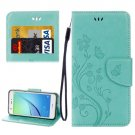 For Huawei NovaI Green Butterflies Leather Case with Holder, Card Slots & Wallet
