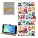 For Huawei NovaI Owls Pattern Leather Case with Holder, Card Slots & Wallet