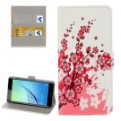 For Huawei NovaI Blossom Pattern Leather Case with Holder, Card Slots & Wallet