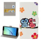 For Huawei NovaI Owl Pattern Leather Case with Holder, Card Slots & Wallet