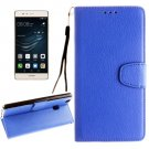 For Huawei P9 Lite Blue Litchi Leather Case with Holder, Card Slots & Wallet