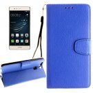 For Huawei P9 Blue Litchi Leather Case with Holder, Card Slots & Wallet
