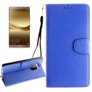 For Huawei Mate 8 Blue Litchi Leather Case with Holder, Card Slots & Wallet