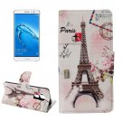 For nova plus Eiffel Pattern Leather Case with Holder, Card Slots & Wallet