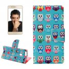 For Honor 8 Owls Pattern Leather Case with Holder, Card Slots & Wallet