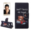 For Honor 8 Bear Pattern Leather Case with Holder, Card Slots & Wallet