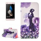 For Huawei P8 Lite Flowers Pattern Leather Case with Holder, Card Slots & Wallet