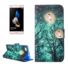 For Huawei P8 Lite Forest Pattern Leather Case with Holder, Card Slots & Wallet