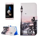 For Huawei P8 Lite Girl Pattern Leather Case with Holder, Card Slots & Wallet