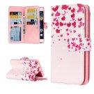 For Huawei P8 Lite Flower Pattern Leather Case with 9 Card Slots, Wallet & Holder