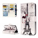 For Huawei P8 Lite Deer Pattern Leather Case with 9 Card Slots, Wallet & Holder