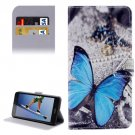 For Honor 5A Butterfly Pattern Leather Case with Holder, Card Slots & Wallet