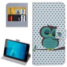For Honor 5C Owl Pattern Leather Case with Holder, Card Slots & Wallet