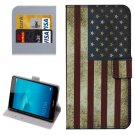 For Honor 5C US Flag Pattern Leather Case with Holder, Card Slots & Wallet