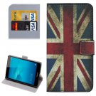 For Honor 5C UK Flag Pattern Leather Case with Holder, Card Slots & Wallet