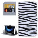 For Honor V8 Zebra Pattern Leather Case with Holder, Card Slots & Wallet
