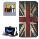 For Honor V8 UK Flag Pattern Leather Case with Holder, Card Slots & Wallet