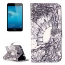 For Honor 5C Tree Pattern Leather Case with Holder, Card Slots & Wallet