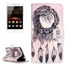 For Huawei Y5 II Chimes Pattern Leather Case with Holder, Card Slots & Wallet