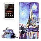 For Huawei Y5 II Painting Pattern Leather Case with Holder, Card Slots & Wallet