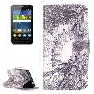 For Huawei Y6 Pro Tree Pattern Leather Case with Holder, Card Slots & Wallet