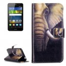For Huawei Y6 Pro Elephant Pattern Leather Case with Holder, Card Slots & Wallet
