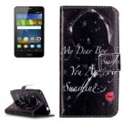 For Huawei Y6 Pro Red Lip Pattern Leather Case with Holder, Card Slots & Wallet