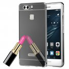 For Huawei P9 Electroplating Mirror Black PC Case Back Shell Cover