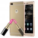 For Huawei P8 Electroplating Mirror Gold PC Case Back Shell Cover