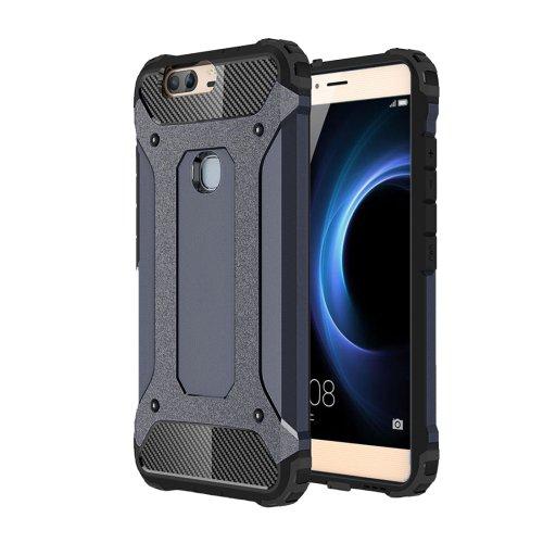For Huawei Honor V8 Dark Blue Tough Armor TPU + PC Combination Case