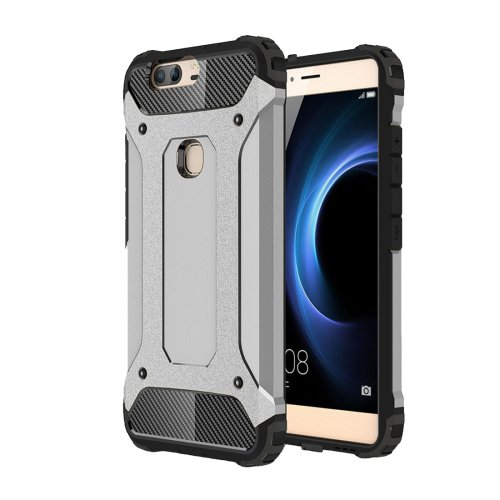 For Huawei Honor V8 Grey Tough Armor TPU + PC Combination Case