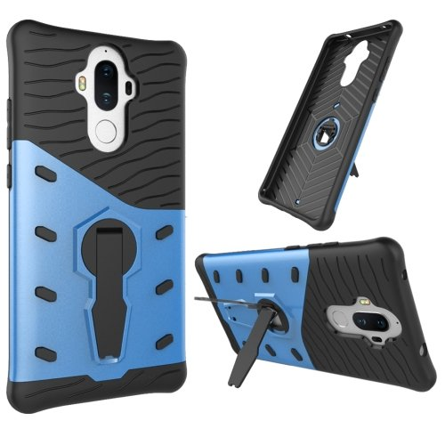 For Huawei Mate 9 Blue Rotating TPU + PC Combination Case with Holder