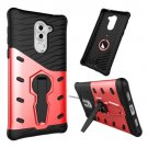 For Huawei Honor 6X Red Rotating TPU + PC Combination Case with Holder