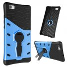 For Huawei P8 Lite Blue Rotating TPU + PC Combination Case with Holder