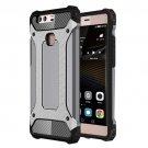 For Huawei P9 Plus Grey Tough Armor TPU + PC Combination Case