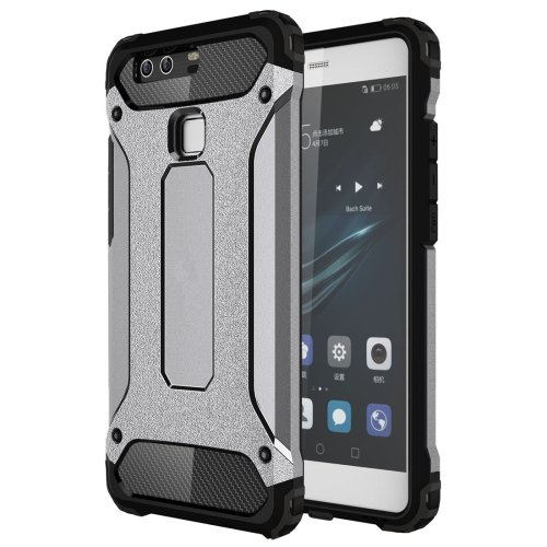 For Huawei P9 Grey Tough Armor TPU + PC Combination Case