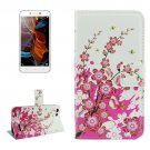 For Lemon 3 Blossom Pattern Leather Case with Holder, Card Slots & Wallet