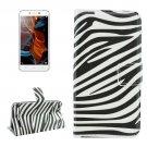For Lemon 3 Zebra Pattern Leather Case with Holder, Card Slots & Wallet