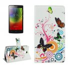 For Lenovo A2010 Butterfly Pattern Leather Case with Holder, Card Slots & Wallet