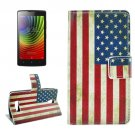 For Lenovo A2010 US Flag Pattern Leather Case with Holder, Card Slots & Wallet