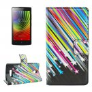 For Lenovo A2010 Meteor Pattern Leather Case with Holder, Card Slots & Wallet