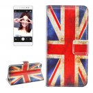 For Lenovo S90 UK Flag Pattern Leather Case with Holder, Card Slots & Wallet
