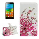 For Lenovo K3 Blossom Pattern Leather Case with Holder, Card Slots & Wallet
