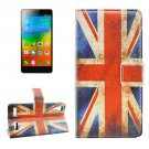For Lenovo K3 UK Flag Pattern Leather Case with Holder, Card Slots & Wallet