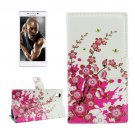 For Lenovo P70t Blossom Pattern Leather Case with Holder, Card Slots & Wallet