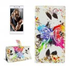 For Lenovo P70t Butterfly Pattern Leather Case with Holder, Card Slots & Wallet