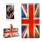 For Lenovo P70t UK Flag Pattern Leather Case with Holder, Card Slots & Wallet