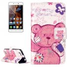 For Vibe K5 Bear Pattern Leather Case with Holder, Card Slots & Wallet