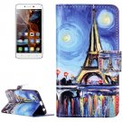 For Vibe K5 Painting Pattern Leather Case with Holder, Card Slots & Wallet