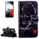 For Lenovo A6000 Redlips Pattern Leather Case with Holder, Card Slots & Wallet